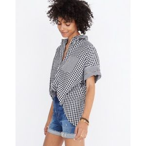 Madewell Play Gingham Courier button down shirt